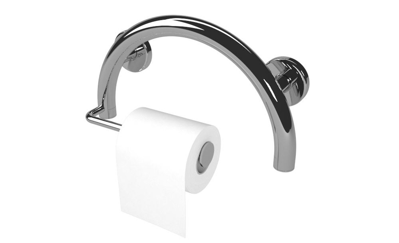 Picture of: Ada Compliant Circle Grab Bar Toilet Paper Holder