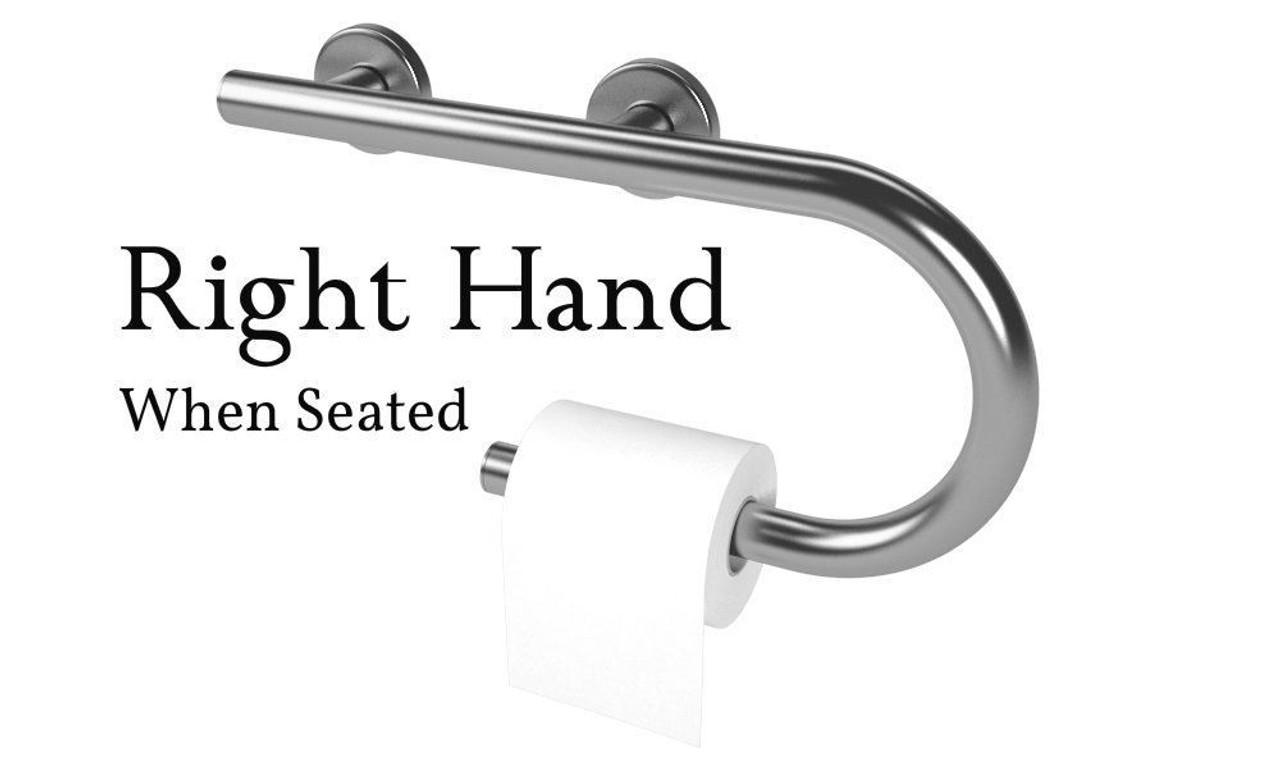 Designer Grab Bar Toilet Paper Holder Ada Compliant