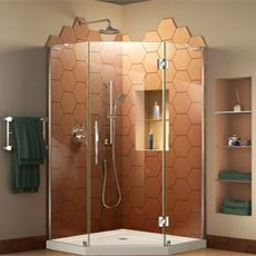 Showers +  Glass Shower Door Kits