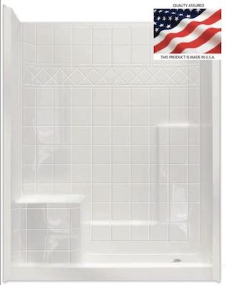 60 X 32 Shower with Built-in Seat | Tub to Shower
