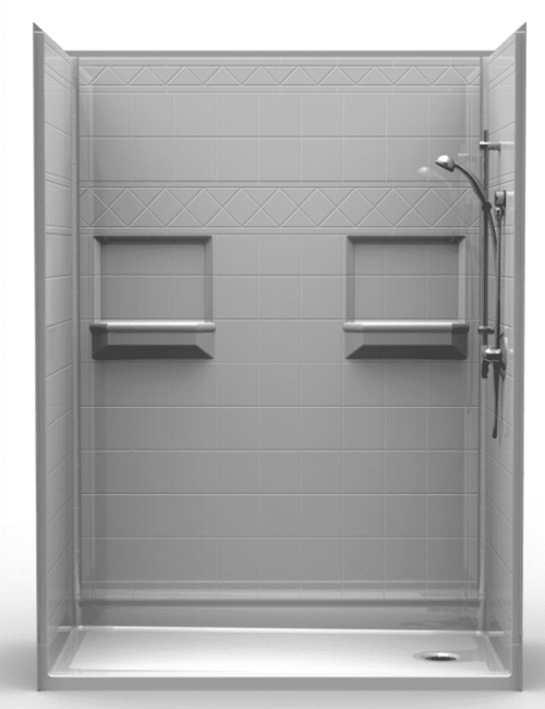 60 X 30 Walk In Shower Stall Multi Piece Shower Stall