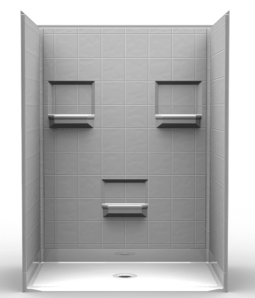 60 X 48 Curbless Shower Stall Solid Surface Available