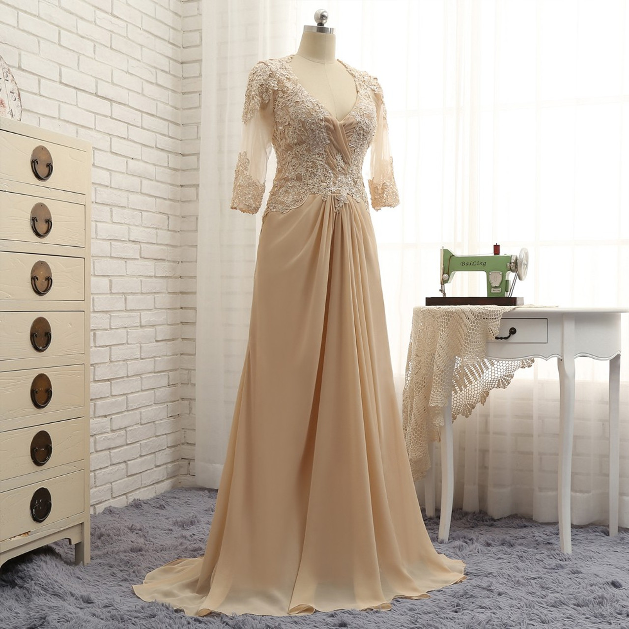 Mother Of The Bride Dresses 2017: Romance Champagne 2017 Mother Of The Bride Dresses A-line
