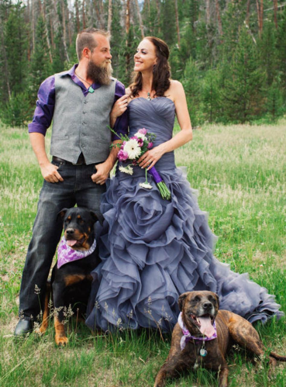 Cheap Elegant Gothic Wedding Dresses Mermaid Tulle Wedding Dress