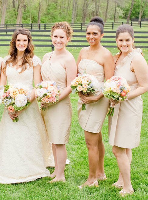 One Shoulder Homecoming Dresses 2017 a variety of options to customize the bridesmaid dresses