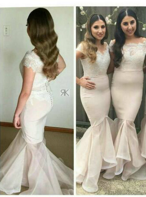 Charming 2017 Mermaid Bridesmaid Dresses Lace Appliques Bead