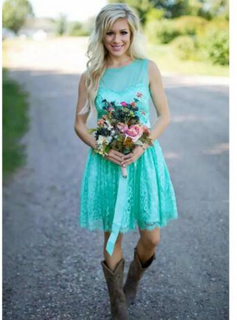 New Fashion Lace Country Bridesmaids Dresses