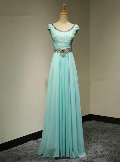 Beaded Bridesmaid Dresses Long Chiffon