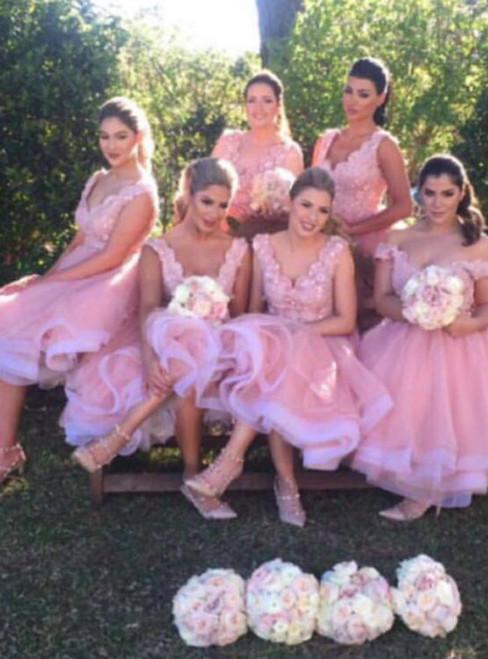 Cheap homecoming dresses 2017 Prom Dress Blush Pink Prom Dress