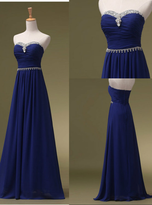 Cheap bridesmaid dresses 2017 Royal Blue Prom Dresses  Long Bridesmaid Dresses