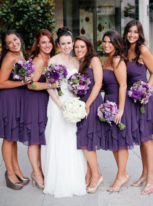 Cheap bridesmaid dresses 2017 Short Custom Bridesmaid Dress purple bridesmaid dress
