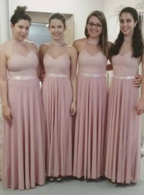 Cheap bridesmaid dresses 2017 Sexy Bridesmaid DressStylish Pearl Pink Bridesmaid Dresses