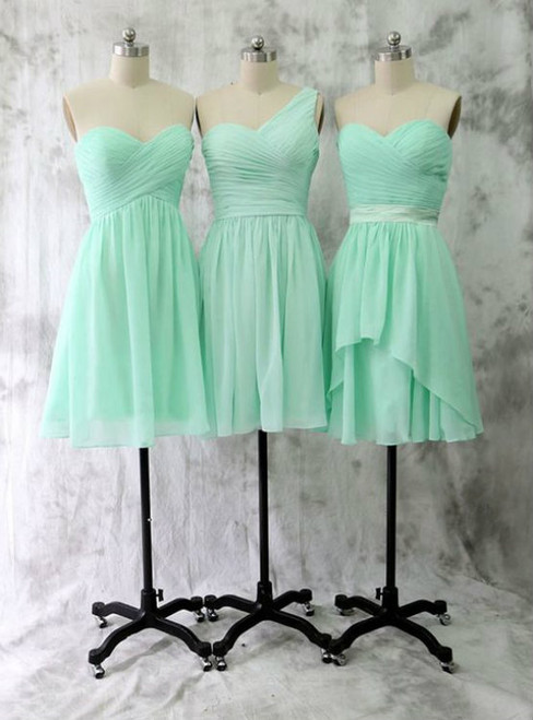 Knee Length Sweetheart Mint Bridesmaid Dress