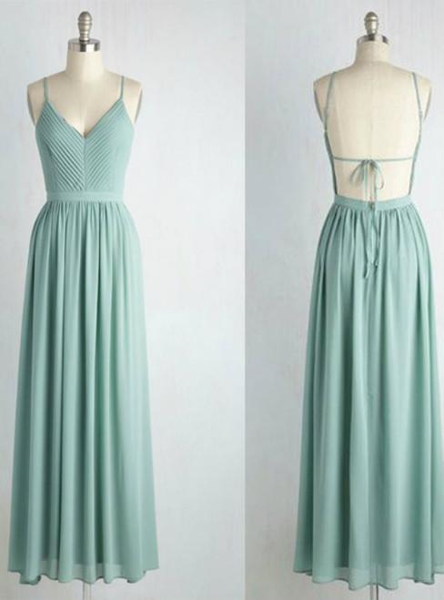 Backless Bridesmaid Dresses Chiffon bridesmaid dresses  long bridesmaid dresses