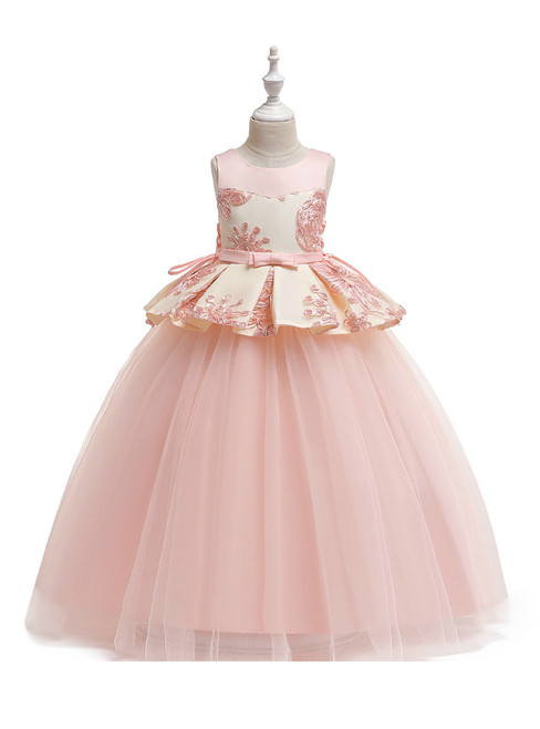 In Stock:Ship in 48 Hours Navy Blue Tulle Appliques Princess Dresses