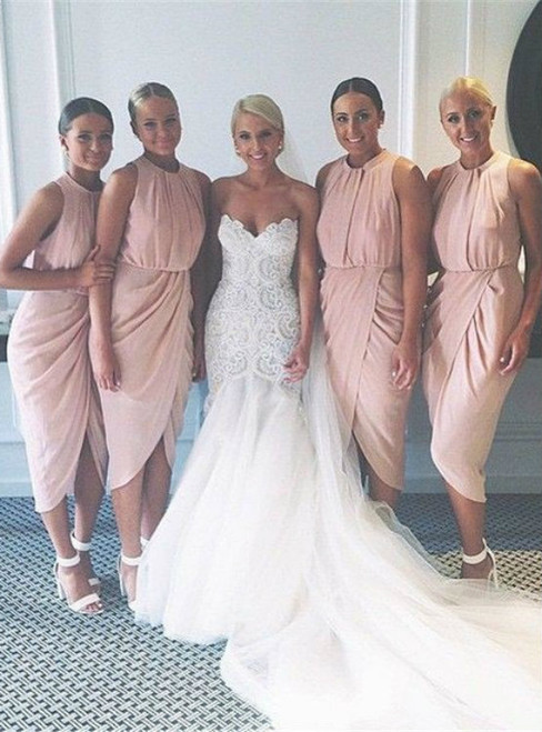 Cheap bridesmaid dresses 2017 pink bridesmaid dress short bridesmaid dress