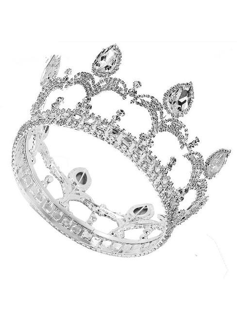 Headdress Crown Rhinestone European Wedding Round Crown