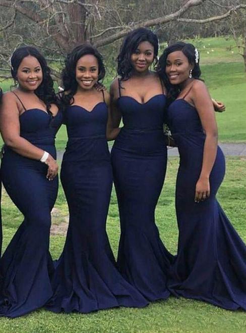 Navy Blue Bridesmaid Dresses Simple Bridesmaid Dress Off Shoulder Evening Dresses