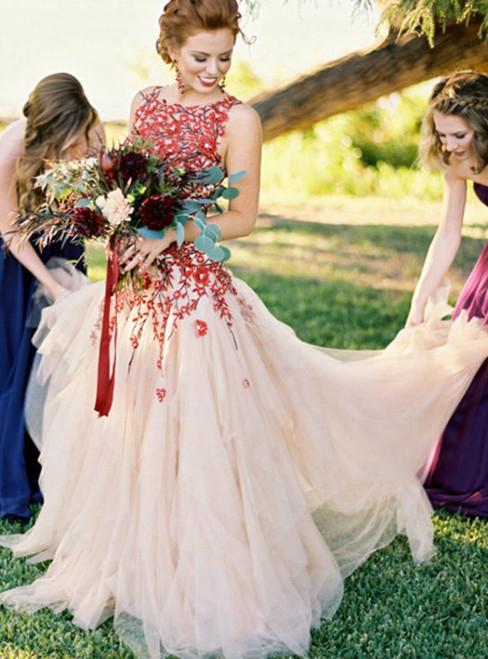 Floral Prom Dress Wedding Dress  2017 Long Prom Dress Wedding Dress