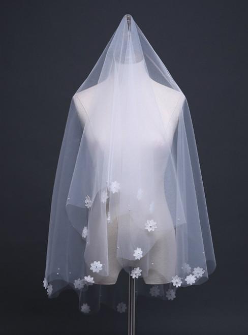 In Stock:Ship in 48 Hours Flowers 1.5 Meters Sweet Short Wedding Yarn