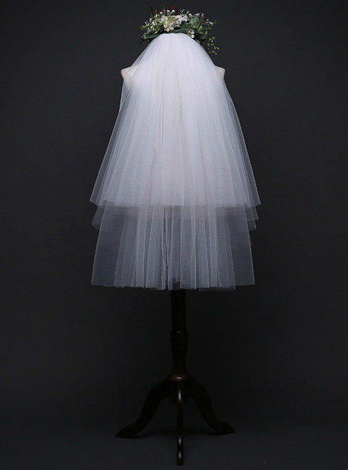 In Stock:Ship in 48 Hours Double Layer Bridal Veil