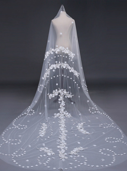 In Stock:Ship in 48 Hours 3 Meters White Veil Wedding Accessories