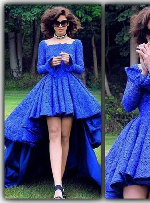 High Low Prom Dresses Royal Blue Prom Dress Formal Gown Prom Dresses Evening Gowns