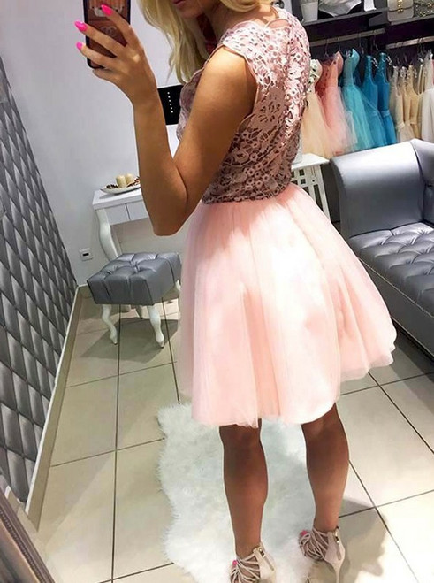 Elegant Homecoming Dresses A-line Homecoming Dresses Lace Homecoming Dresses