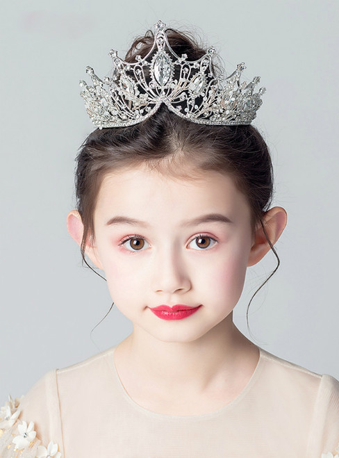 White Crown Tiara Princess Girls Crown Diamond