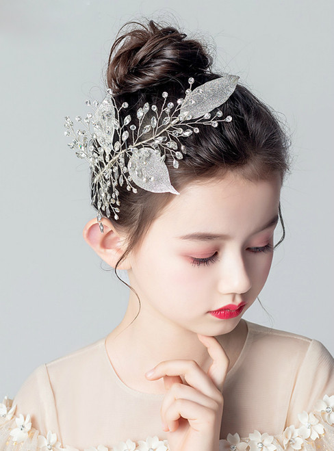Children's Headdress Flower Silver Garland