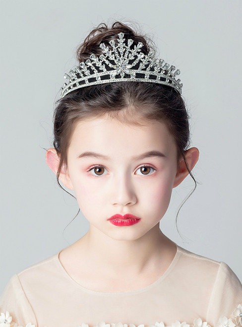 Girls Tiara Princess Korean Rhinestones Accessories