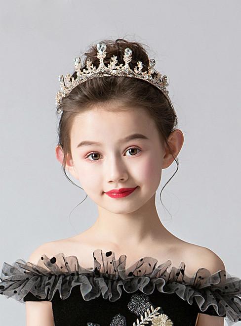 Children's Gold Crown Tiara Princess Girls Crown Hairband