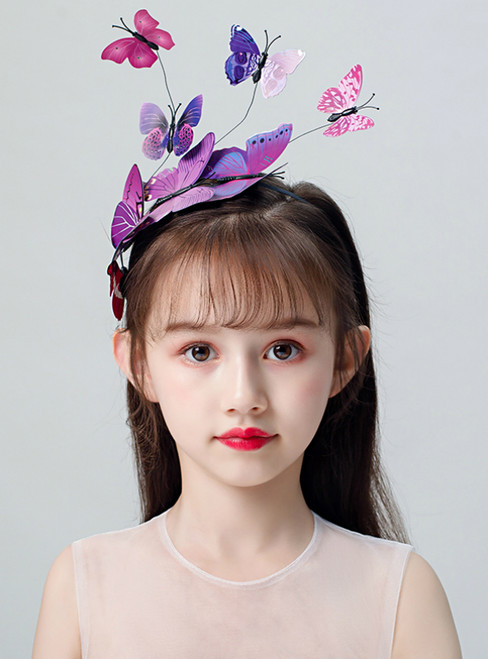 Girl Exaggerated Headdress Butterfly Hairband