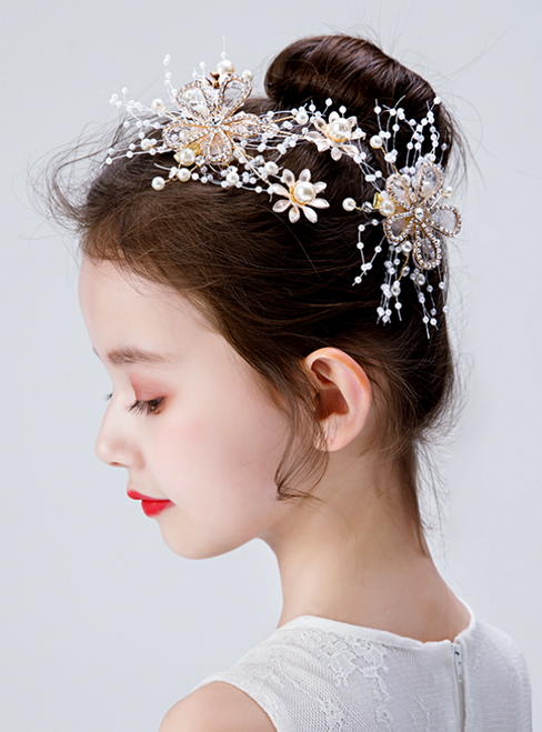 Children's Headdress Butterfly Hairpin Girl Flower Head Flower
