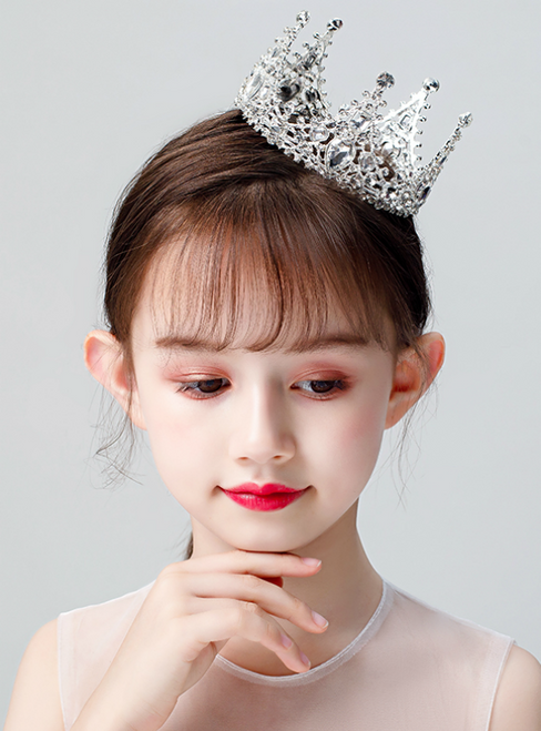 Girls Tiara White Whole Ring Crown Accessories