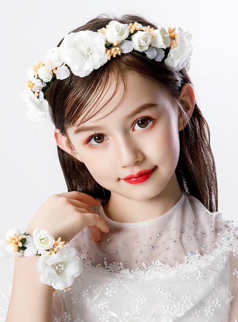 Girl's Wedding Flower Girl Garland Hand Flower Set