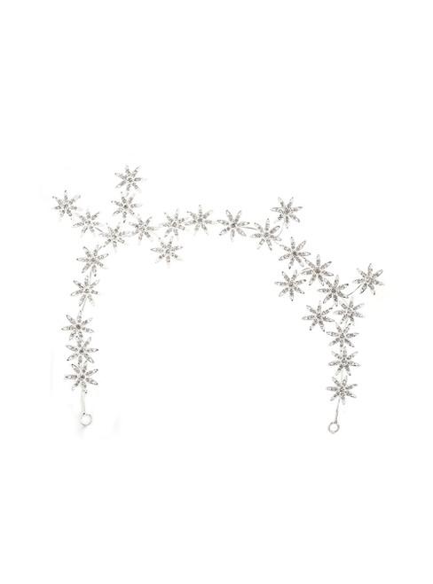 Bride Tiara Rhinestone Star Silver Hair Accessories