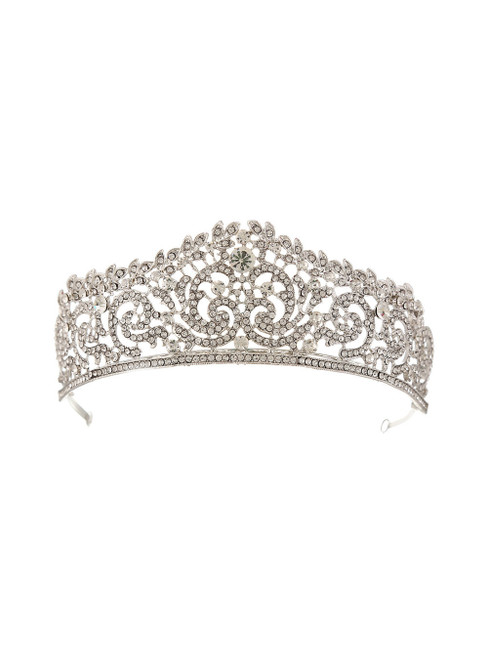 Retro Bride Crystal Crown Luxury Headdress