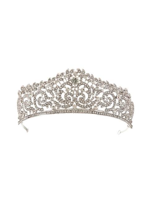 Retro Bride Crystal Crown Luxury Headdress