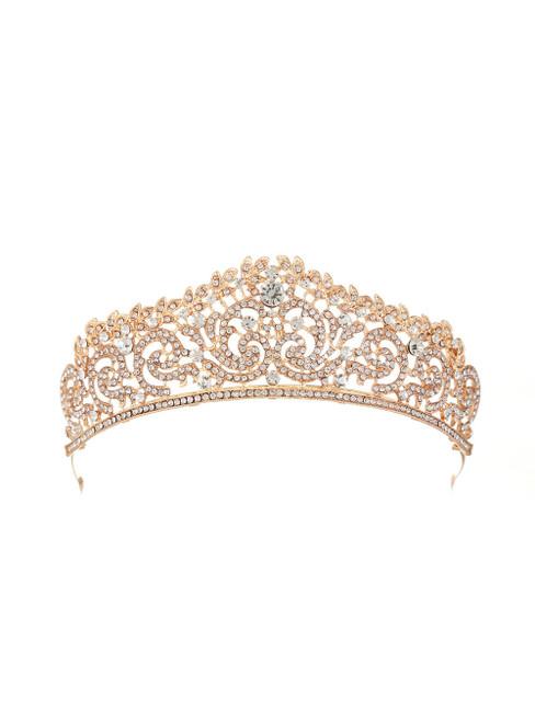 Retro Bride Silver Crystal Crown Luxury Headdress