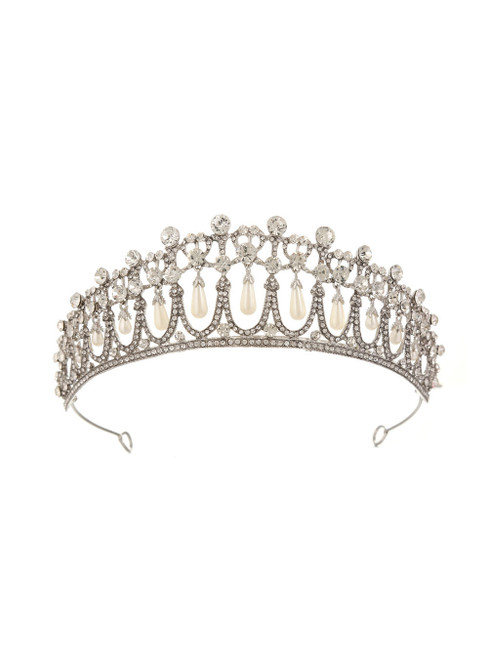 Crown Pearl Diamond Hair Accessories Bride Crown