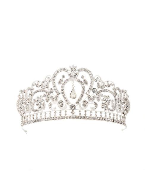 Women Retro Baroque Queen Silver Luxury Crown