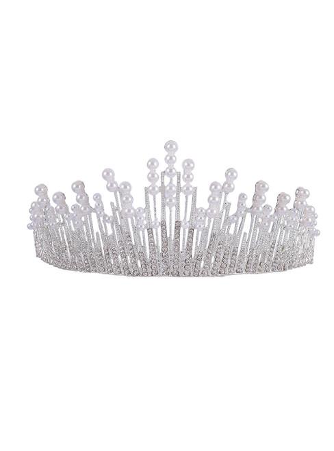 Diamond Pearl Crown tiara Bride Hair Accessories