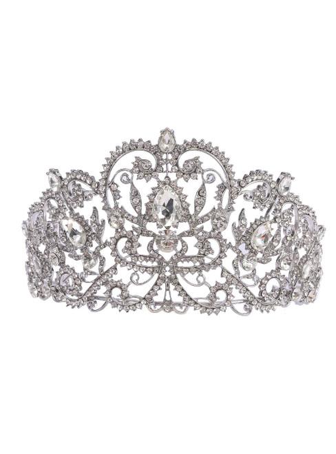 Hollow Water Drill Hoop Crown Bride Crown Birthday Princess