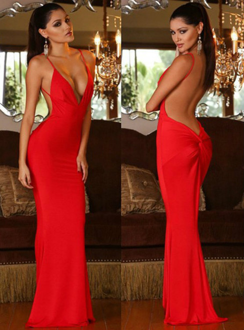 Prom Dresses Evening Dress Red Mermaid Prom Dress Formal Gown Sexy Evening Dress