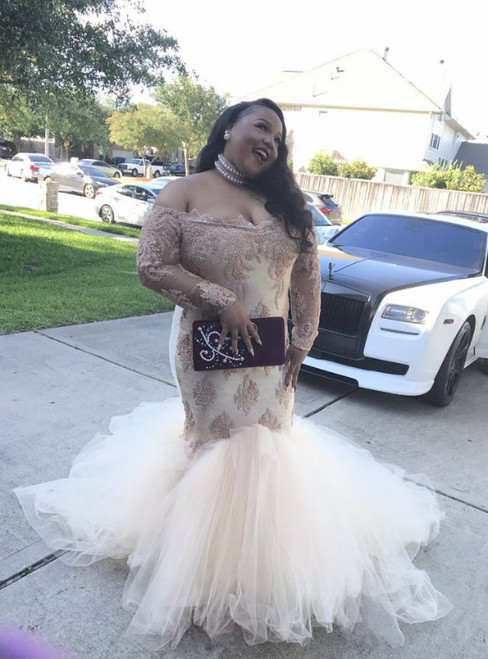 Cheap prom dresses 2017 African Mermaid Black Girl Plus Size Prom Dresses