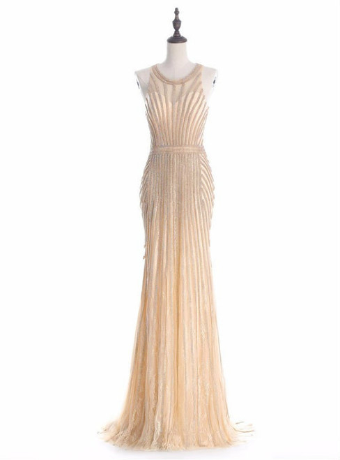 Cheap prom dresses 2017 Robe De Soiree Halter Gold Evening Party Dress