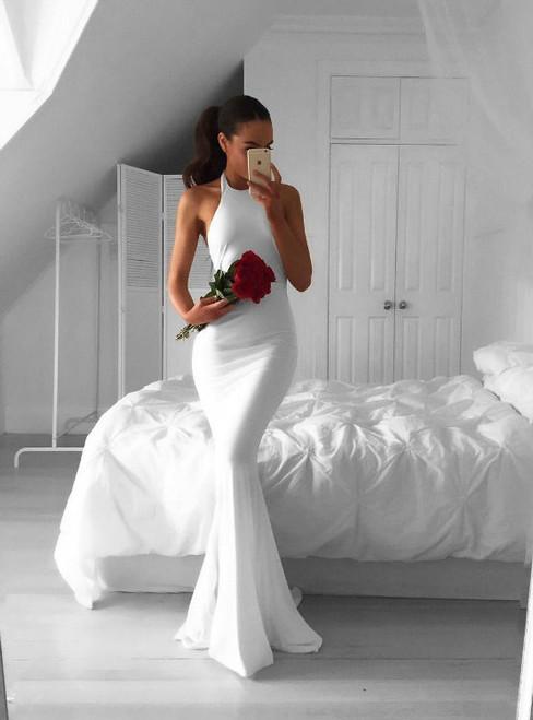 Cheap prom dresses 2017 white prom dress long mermaid dress white evening dresses