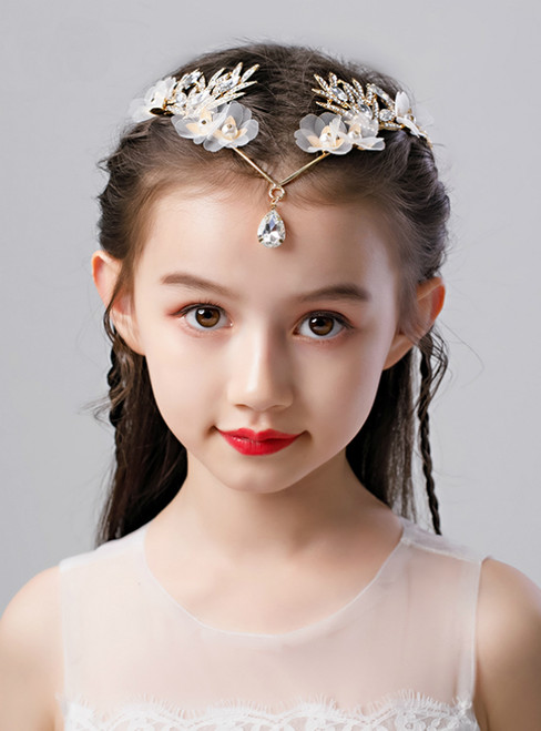 Girl Princess Frontal Ornament Eyebrows Dropping Headdress