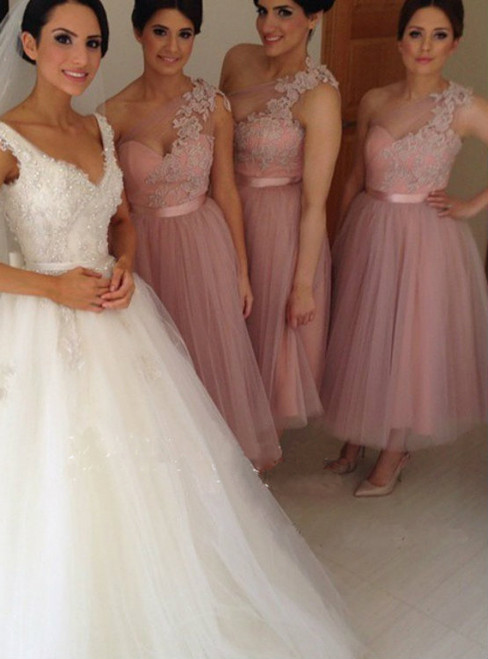 One Shoulder Bridesmaid Dress Short Bridesmaid Dress  Bridesmaid Dress